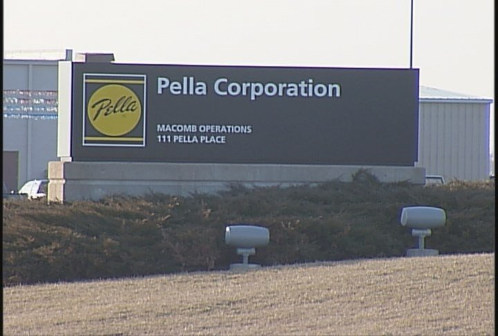 Pella Corporation sign in Macomb