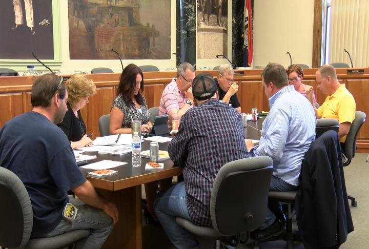 The budget was discussed Wednesday night.