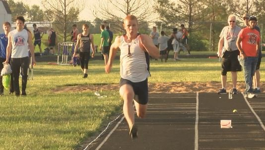 Illini West's Connor Artman dominated the Rushville sectional winning titles in four events.