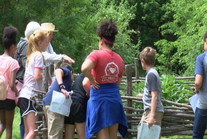 Students visited different historical sites around Quincy, including the Log Cabin Village.