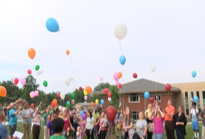 The balloon release took place Thursday night.