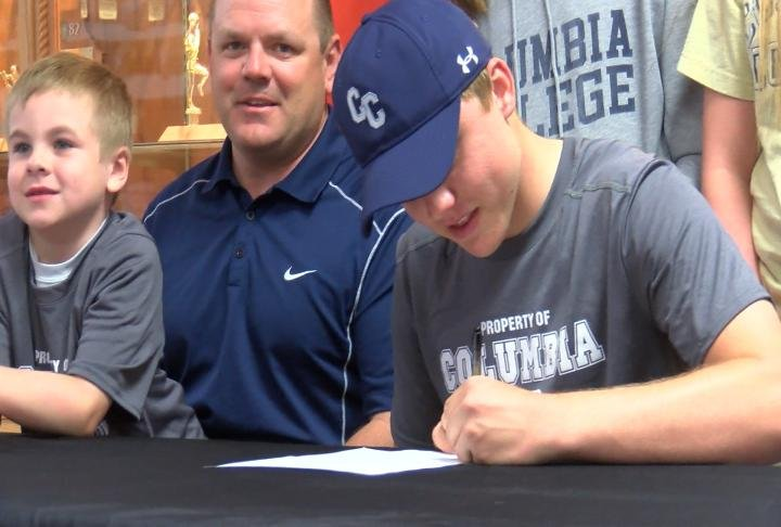 Palmyra's Laithan Sublette officially joined the Columbia College golf program on Monday.