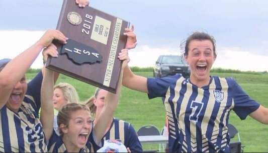 QND celebrates following its Final Four clinching victory against Joliet Catholic.
