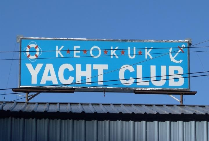 Authorities say the body was found north of the Keokuk Yacht Club