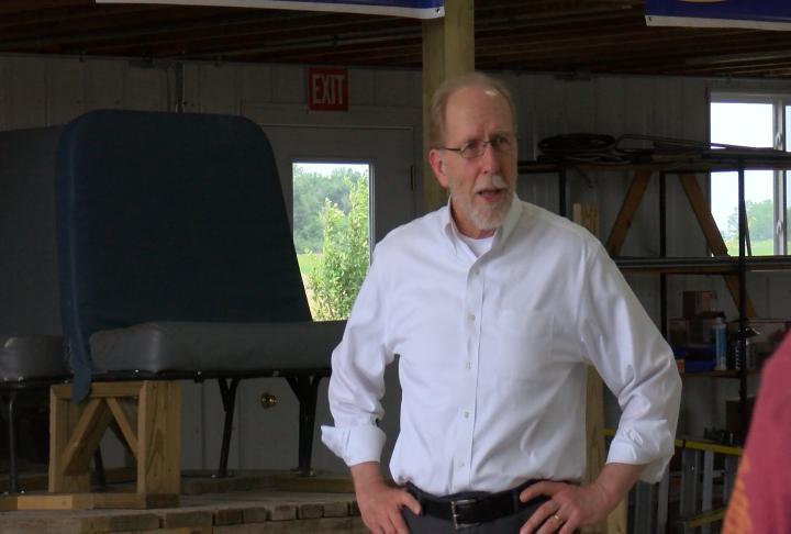 Iowa Congressman Dave Loebsack addressing the Farm Bill.