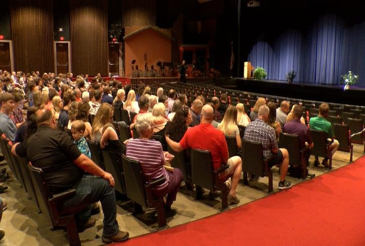 The school's annual senior baccalaureate was held at the Quincy High School Theatre.