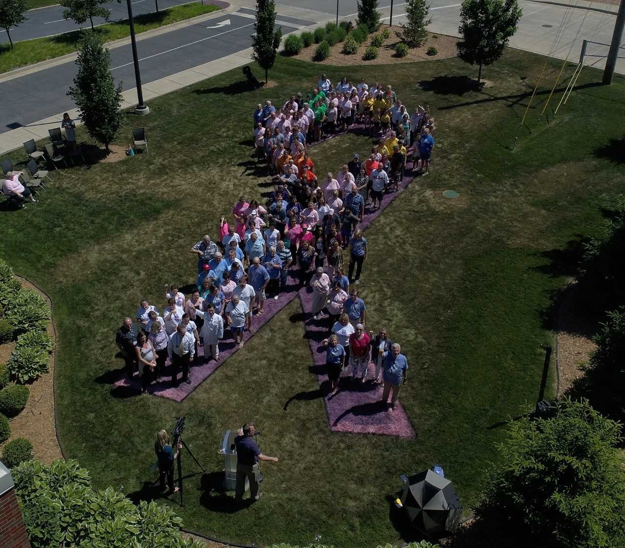 Cancer survivors and families come together to celebrate Cancer Survivor Day. (Photo provided by Blessing Healthcare System)