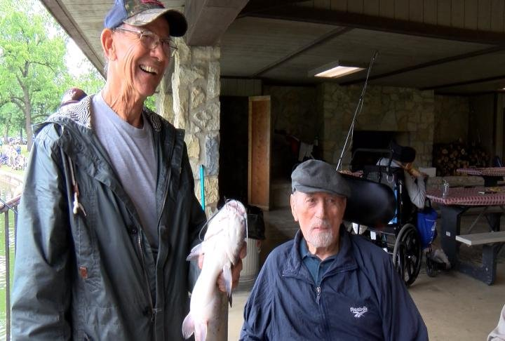 Veteran shows fish caught