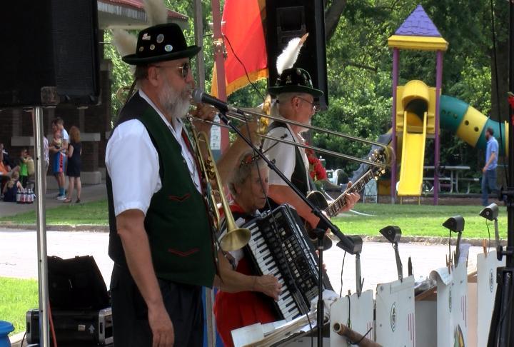 German band performs