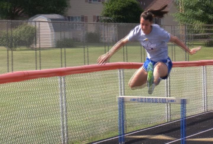 Alex Neve gets ready for Friday's All-Star track meet.