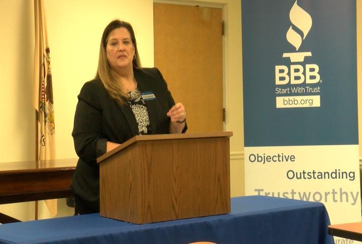 Mara Clingingsmith representing a Better Business Bureau.