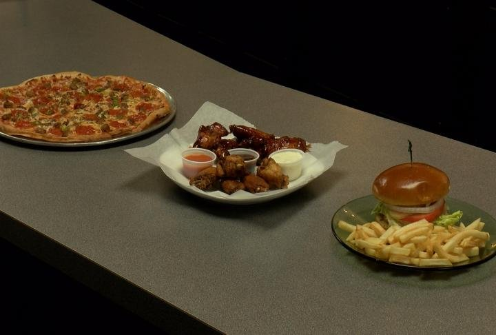 New food choices from pizza to burgers and wings.