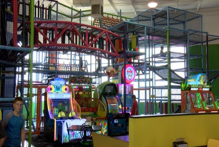 Main floor with playground and other games.