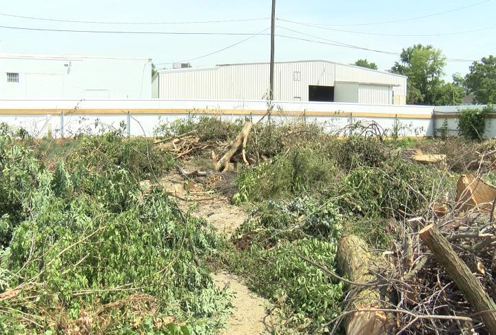 Yard waste lot in Hannibal