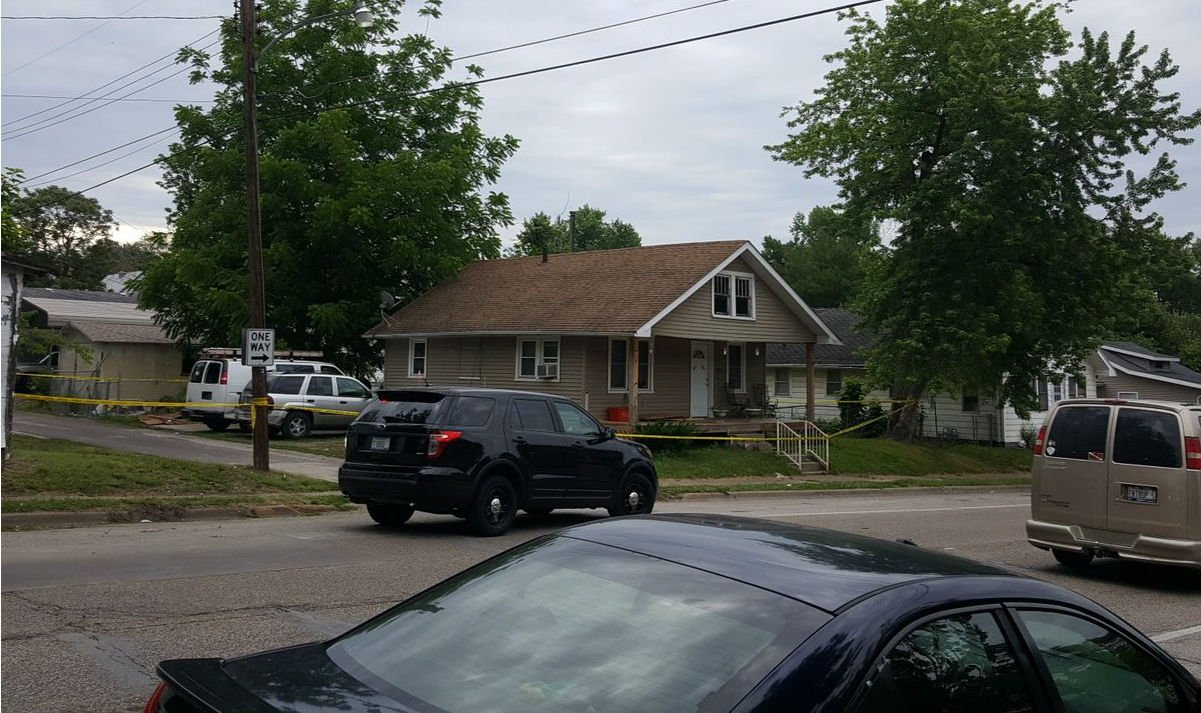 House at 910 N. 3rd blocked off