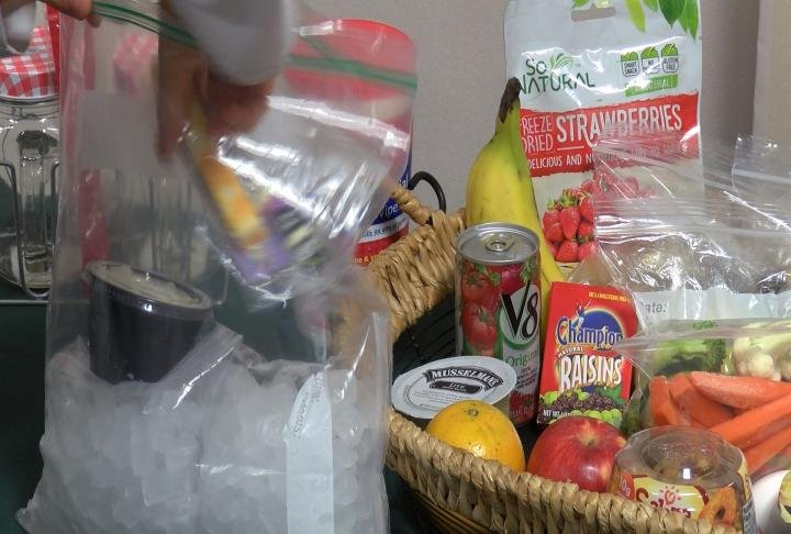 Dietitians said use plenty of ice to help keep cold food below 41 degrees.