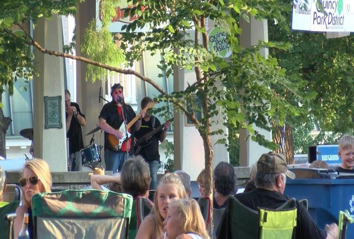 Visitors at Blues in the District in Quincy's Washington Park