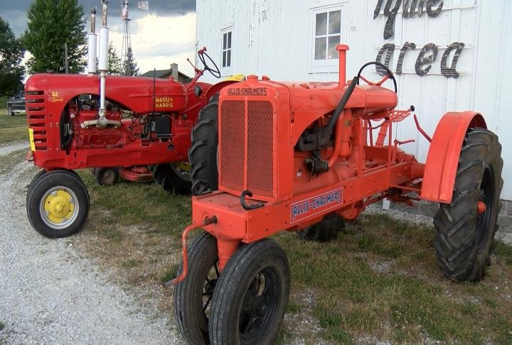Tractors outside the museum.