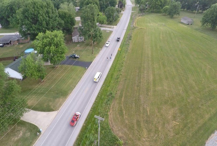 Drone view of the Torch Run.
