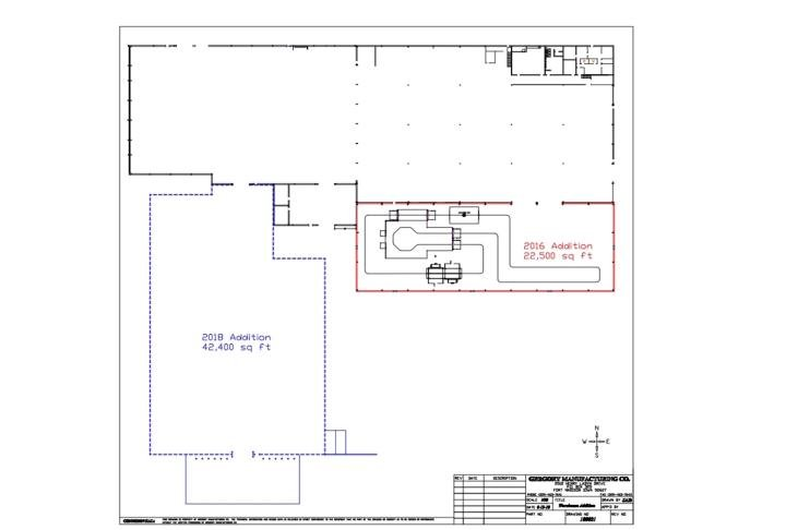 Map of the new warehouse being built.