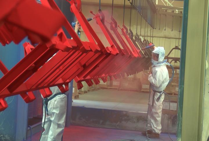 A look at the new powder coat painting facility.