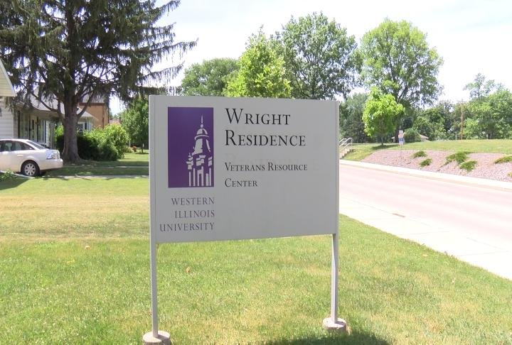 Outside of the Veterans Resource Center on the WIU campus.