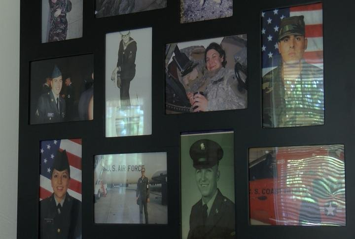Pictures of military students at WIU.
