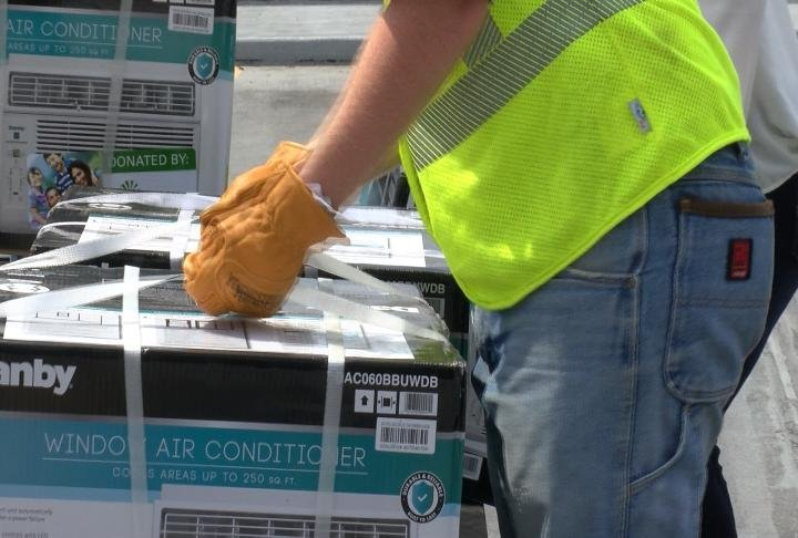 These air conditioning units will given to those who are in need.