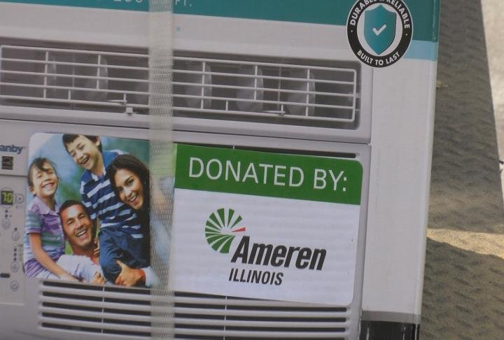 Ameren said they have donated 2,500 air conditioning unites state-wide.