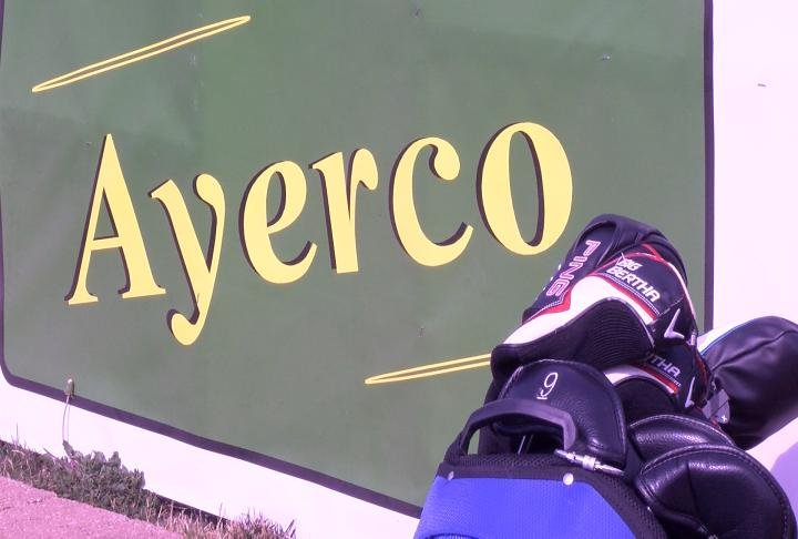 The donation came from Ayerco who hosted a golf outing on Thursday to raise the money.