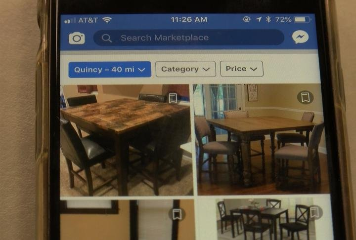 Facebook Marketplace is available on your phone.