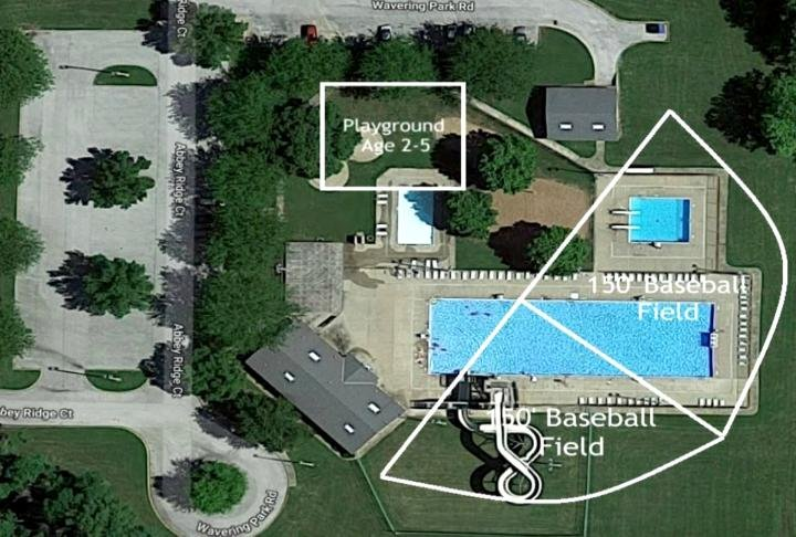 The park district has plans for the old Wavering Aquatic Center by putting in two T-ball fields for six through eight year olds, as well as a playground.