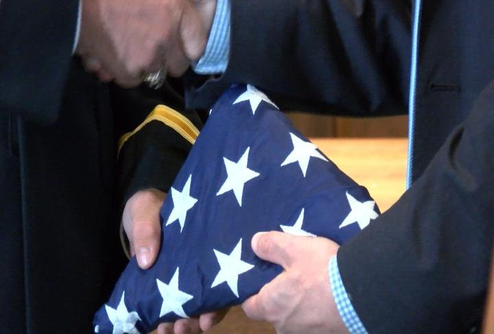 The flag was from the office of Congressman Darin LaHood.