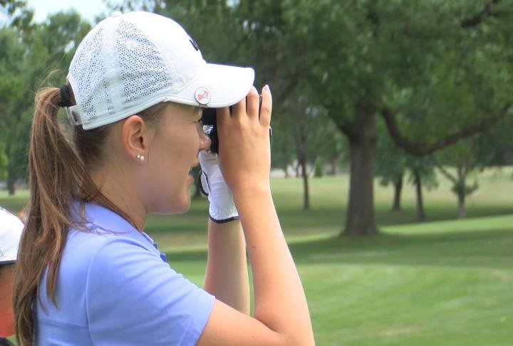 Junior golfers from around the world take part in day one of the Pepsi Little People's Golf Championships.
