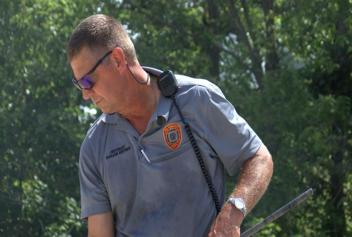 Tri-Township Fire Department helps teach employees about safety.