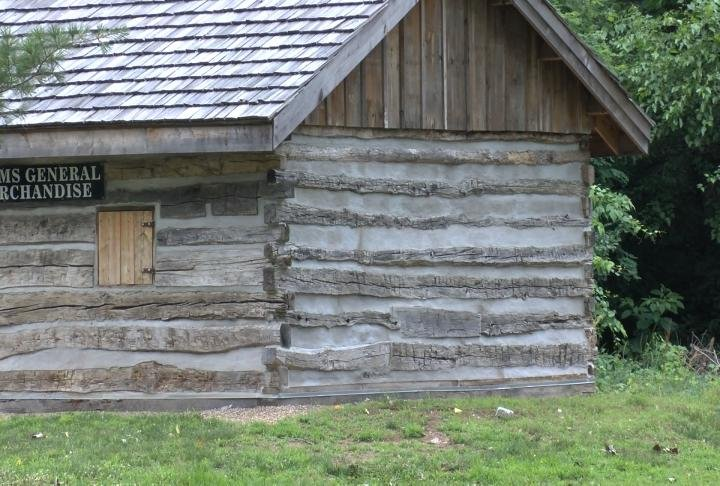 Log Cabins on Quinsippi Island