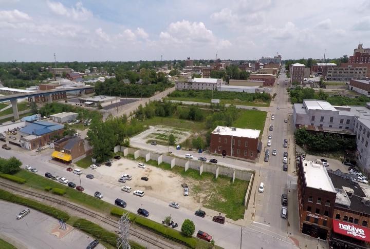 Drone shot of Quincy