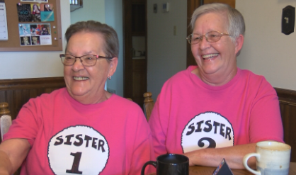 Judith McChristian (left) and Peggy Christianer (right) have been host families for the Gems the past two Summers.