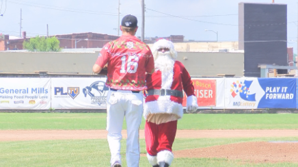 Santa joined in on the fun for Christmas in July at the Hoots game Sunday.