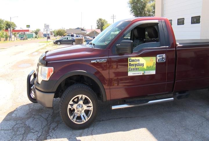The recycle center's new truck