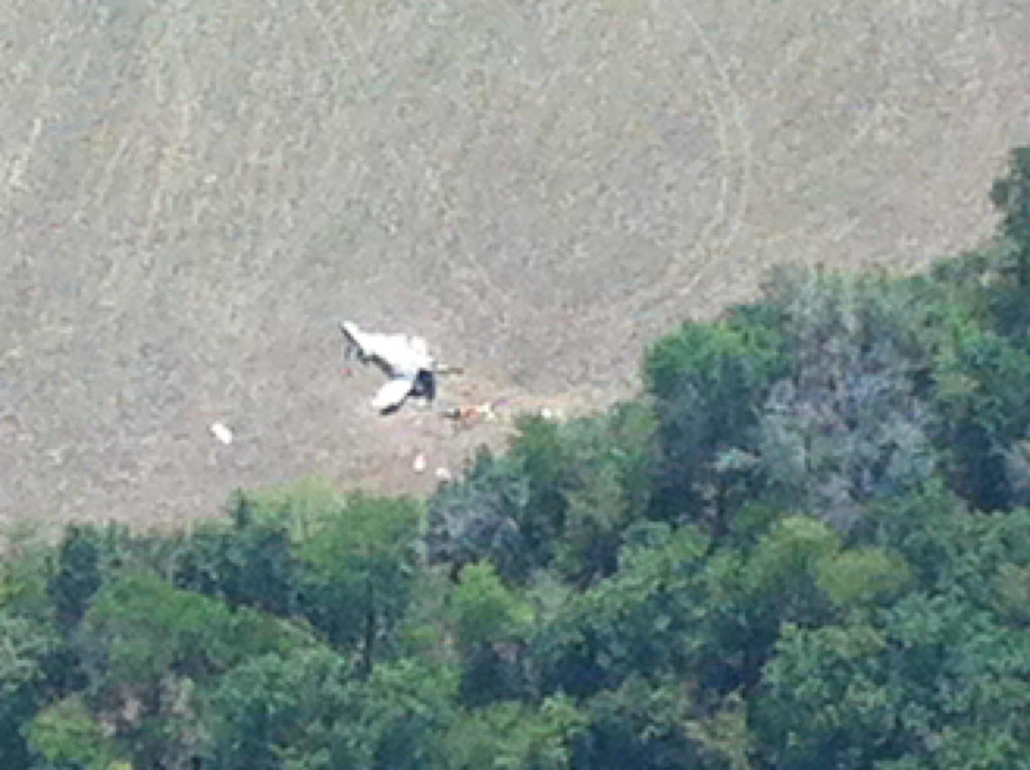 Aerial photo at scene of Lewis Co. plane crash (Photo/Joe McFarland, WGEM News)