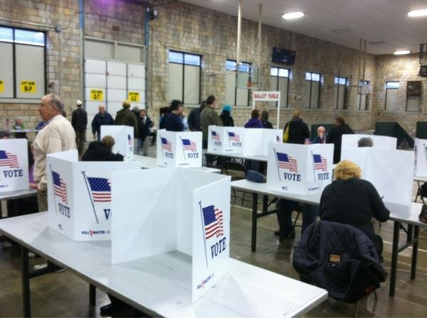 Voters in Hannibal wait to cast their ballot. Marion County Clerk Valerie Dornberger estimates a turnout as high as 70-75 percent. (Photo/WGEM News)