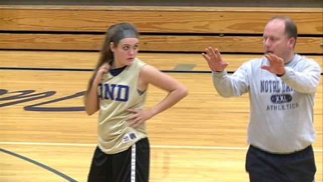QND head coach Eric Orne at Monday's practice.