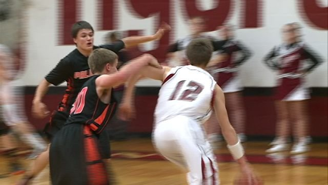 Canton's Tyler NIemann hit the game winning basket with five seconds left to deny Palmyra's rally in the Tigers 75-74 win.