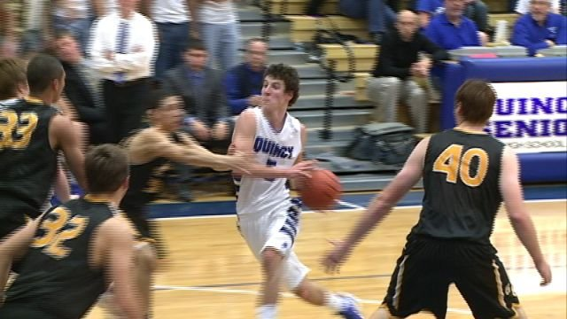 Martin Kvitle was one of four QHS players in double figures as the Blue Devils improved to 5-1 with a 54-51 win over Galesburg.