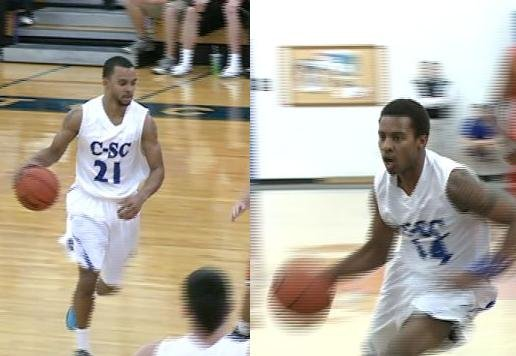 CJ Adams (left) and Marshawn Norris (right) have helped lead the C-SC Wildcats to a benchmark season so far in 2012/2013.