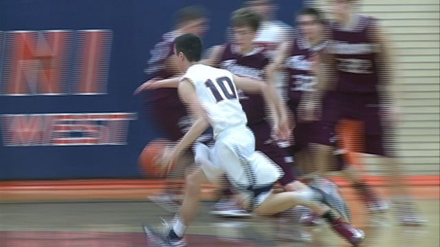 Brody Gronewold had 19 points to aid in Illini West's upset 59-53 of No. 4 Rockridge on Friday night.