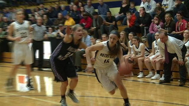 Kassidy Gengenbacher scored 27 points in the QND Lady Raiders win over Rolling Meadows on Saturday.