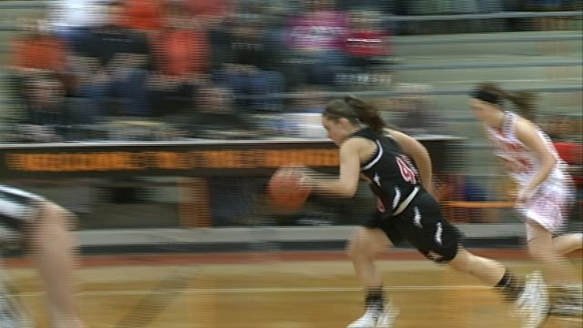 Shelby Koehler led all scorers with 25 points as West Hancock outlasted Macomb 72-61 in Monday's Class 2A regional quarterfinals.