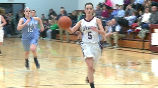 Maggie Bowles and the Unity girls basketball team beat Triopia 56-31 to advance to Thursday's regional title game.